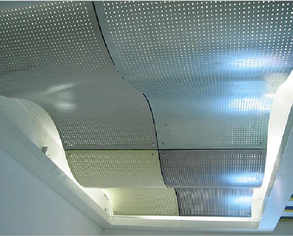 双曲冲孔铝单板吊顶